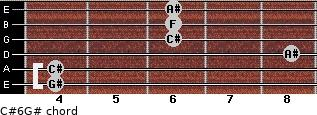 C#6/G# for guitar on frets 4, 4, 8, 6, 6, 6