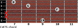 C#7(-5) for guitar on frets 9, x, x, 10, 8, 7