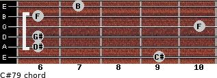 C#7/9 for guitar on frets 9, 6, 6, 10, 6, 7