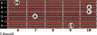 C#aug6 for guitar on frets 9, x, 7, 10, 10, 6