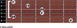 C#aug6/A for guitar on frets 5, 1, 3, 3, 2, 1