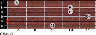 C#aug7 for guitar on frets 9, x, 11, 10, 10, 7