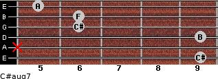 C#aug7 for guitar on frets 9, x, 9, 6, 6, 5