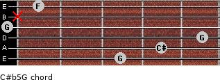 C#(b5)/G for guitar on frets 3, 4, 5, 0, x, 1
