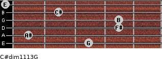 C#dim11/13/G for guitar on frets 3, 1, 4, 4, 2, 0