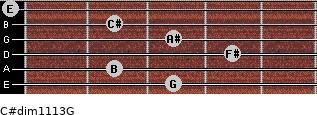 C#dim11/13/G for guitar on frets 3, 2, 4, 3, 2, 0