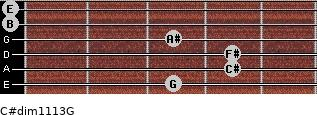 C#dim11/13/G for guitar on frets 3, 4, 4, 3, 0, 0