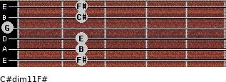 C#dim11/F# for guitar on frets 2, 2, 2, 0, 2, 2