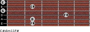 C#dim11/F# for guitar on frets 2, 2, 4, 0, 2, 0
