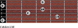 C#dim13/E for guitar on frets 0, 4, 2, 3, 0, 3