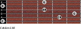 C#dim13/E for guitar on frets 0, 4, 5, 3, 0, 3