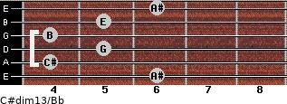 C#dim13/Bb for guitar on frets 6, 4, 5, 4, 5, 6