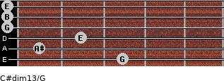 C#dim13/G for guitar on frets 3, 1, 2, 0, 0, 0