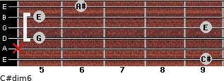 C#dim/6 for guitar on frets 9, x, 5, 9, 5, 6