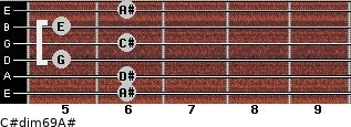 C#dim6/9/A# for guitar on frets 6, 6, 5, 6, 5, 6