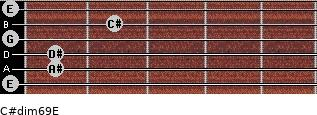 C#dim6/9/E for guitar on frets 0, 1, 1, 0, 2, 0