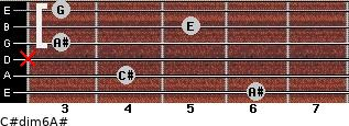 C#dim6/A# for guitar on frets 6, 4, x, 3, 5, 3