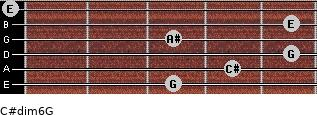 C#dim6/G for guitar on frets 3, 4, 5, 3, 5, 0