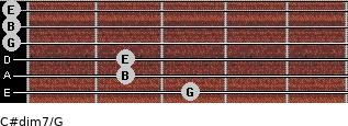 C#dim7/G for guitar on frets 3, 2, 2, 0, 0, 0