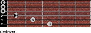 C#dim9/G for guitar on frets 3, 2, 1, 0, 0, 0