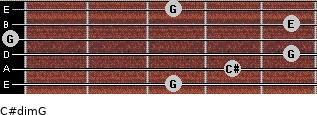 C#dim/G for guitar on frets 3, 4, 5, 0, 5, 3