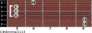 C#dim(maj11/13) for guitar on frets 9, 9, 5, 5, 5, 6