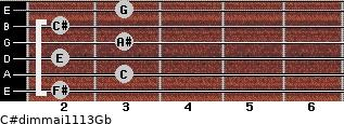 C#dim(maj11/13)/Gb for guitar on frets 2, 3, 2, 3, 2, 3