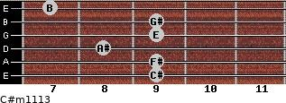 C#m11/13 for guitar on frets 9, 9, 8, 9, 9, 7