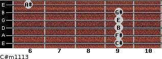 C#m11/13 for guitar on frets 9, 9, 9, 9, 9, 6