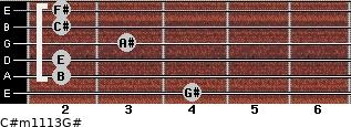 C#m11/13/G# for guitar on frets 4, 2, 2, 3, 2, 2
