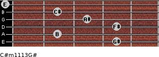 C#m11/13/G# for guitar on frets 4, 2, 4, 3, 2, 0
