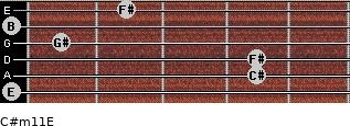 C#m11/E for guitar on frets 0, 4, 4, 1, 0, 2