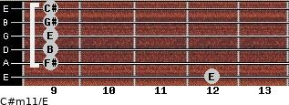 C#m11/E for guitar on frets 12, 9, 9, 9, 9, 9