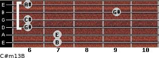 C#m13/B for guitar on frets 7, 7, 6, 6, 9, 6