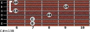 C#m13/B for guitar on frets 7, 7, 8, 6, 9, 6