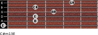 C#m13/E for guitar on frets 0, 2, 2, 3, 2, 4