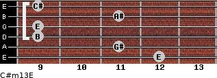 C#m13/E for guitar on frets 12, 11, 9, 9, 11, 9