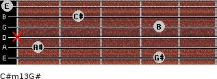 C#m13/G# for guitar on frets 4, 1, x, 4, 2, 0