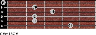 C#m13/G# for guitar on frets 4, 2, 2, 3, 2, 0