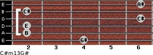 C#m13/G# for guitar on frets 4, 2, 2, 6, 2, 6