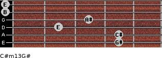 C#m13/G# for guitar on frets 4, 4, 2, 3, 0, 0