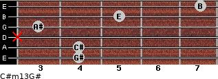 C#m13/G# for guitar on frets 4, 4, x, 3, 5, 7