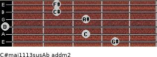 C#maj11/13sus/Ab add(m2) guitar chord