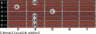 C#maj11sus/G# add(m2) guitar chord
