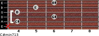 C#min7/13 for guitar on frets x, 4, 6, 4, 5, 6