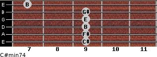 C#min7/4 for guitar on frets 9, 9, 9, 9, 9, 7