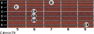 C#min7/9 for guitar on frets 9, 6, 6, 6, 5, 7
