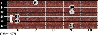 C#min7/9 for guitar on frets 9, 6, 6, 9, 9, 7