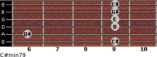 C#min7/9 for guitar on frets 9, 6, 9, 9, 9, 9