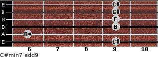 C#min7(add9) for guitar on frets 9, 6, 9, 9, 9, 9